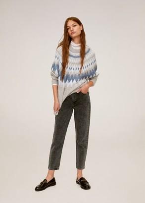 MANGO Metallic thread jacquard sweater