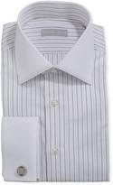 Stefano Ricci Men's Dash-Print Dress Shirt w/ French Cuffs