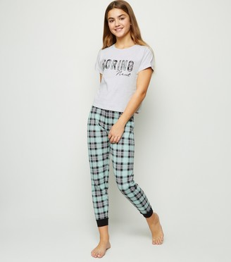 New Look Girls Light Boring Next Slogan Pyjama Set