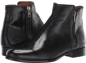Frye Carly Double Zip (Black) Women's Boots