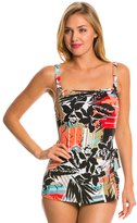 Penbrooke Pattern Sense Bandeau Sarong One Piece Swimsuit 8136151
