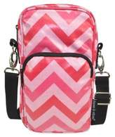 Diapees & Wipees Laminated Hipster Bag in Pink Chevron
