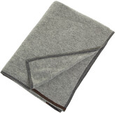 Thumbnail for your product : Oyuna Daya 100% Cashmere Throw - 180x120cm - Slate Grey & Brown