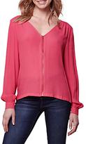 Yumi Zip Front Blouse, Pink