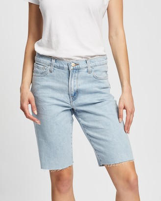 J Brand Women's Blue Denim - Relaxed Bermuda Shorts - Size 25 at The Iconic