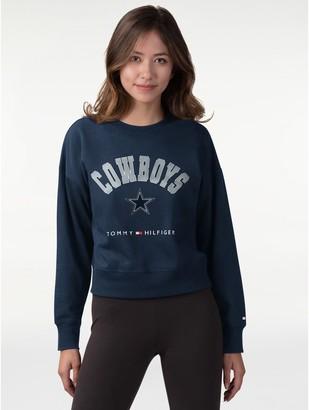 Tommy Hilfiger Dallas Cowboys Cropped Sweatshirt