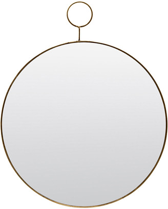 House Doctor - Loop Mirror - Brass - Large