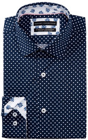 Report Collection Polka Dot Slim Fit Dress Shirt