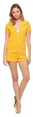 Juicy Couture Bling Snap Pocket Terry Shorts