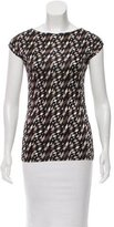 Fendi Sleeveless Geometric Print Top