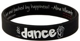 Peace Love World I am Dance Perfection Kids Black Classic Silicone Bracelet
