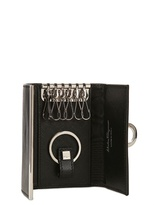 Salvatore Ferragamo Saffiano Leather Key Holder