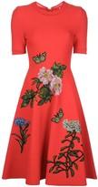 Oscar de la Renta embroidered floral dress