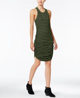 chelsea sky Striped Ruched Dress, Only at Macy's