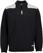 Vineyard Vines Men's Pullover Sweaters 3696 - Jet Black Color Block Shep Half-Zip Pullover - Men