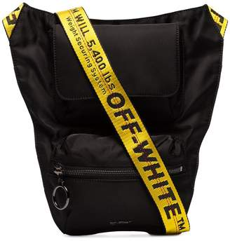 Off-White logo-strap cross body bag