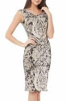 JS Collections Soutache Accented Lace Dress