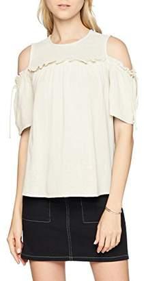 Vero Moda Women's Vmsky Cold Shoulder Top Vest, Snow White, (Size: Medium)