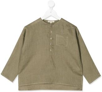 Caramel Pimlico half-buttoned shirt