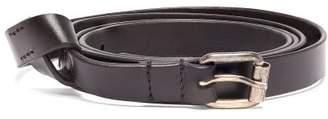 Ann Demeulemeester Skinny Knot Leather Belt - Womens - Black