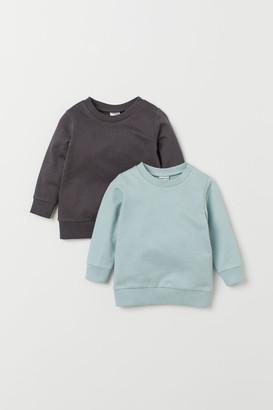 H&M 2-pack Cotton Sweatshirts - Turquoise