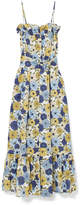 Lisa Marie Fernandez Liz Floral-print Linen Maxi Dress - Indigo