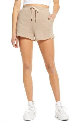 La La Land Creative Co Raw Hem Cotton Fleece Shorts