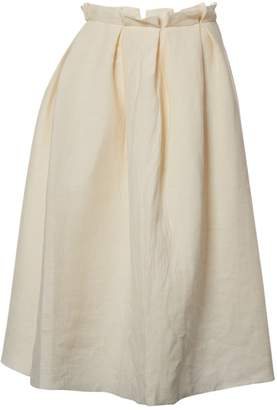 Roksanda Ilincic Beige Linen Skirt for Women