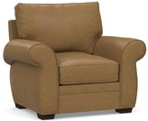 Pottery Barn Pearce Roll Arm Leather Recliner