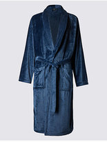 M&s Collection Supersoft Premium Fleece Dressing Gown