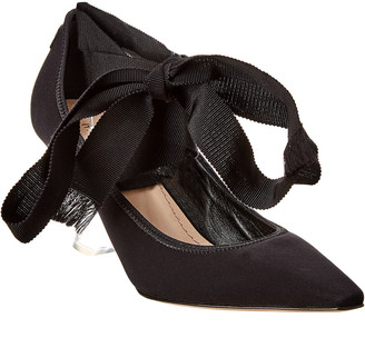 Christian Dior Etoile Lace-Up Leather Pump