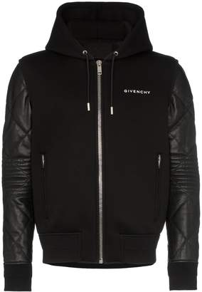 Givenchy hooded contrasting sleeve jacket
