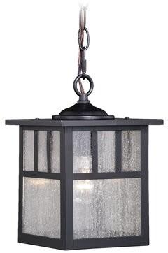 Loon Peakâ® Joelle 1-Light Outdoor Hanging Lantern Loon PeakA
