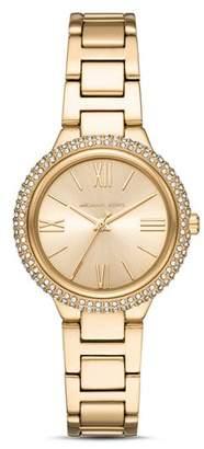 Michael Kors Taryn Gold-Tone Link Bracelet Watch, 33mm