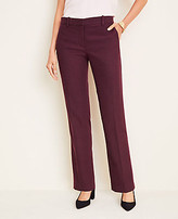 Ann Taylor The Petite Straight Pant In Flannel - Curvy Fit