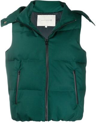 MACKINTOSH CULKEIN Green Wool & Mohair Down Vest | GDH-1002