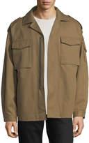 Valentino Zip-Front Utility Jacket