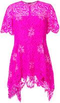Lela Rose floral lace detail top