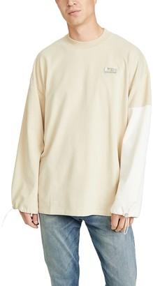 MAISON KITSUNÉ Long Sleeve Color Block Oversized T-Shirt