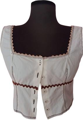 Philosophy di Alberta Ferretti White Cotton Top for Women