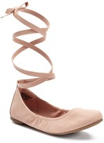 SO® Women's Lace-Up Ballet Flats