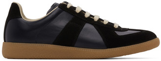 Maison Margiela Navy and Black Replica Sneakers