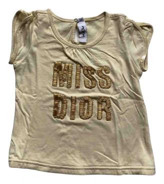 Christian Dior Yellow Glitter Tops