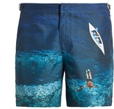 Orlebar Brown Bulldog photographic-print swim shorts