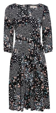Dorothy Perkins Womens **Billie & Blossom Petite Black Butterfly And Floral Print Midi Dress, Black
