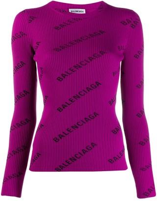 Balenciaga L/S crew neck jumper