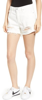Articles of Society Meredith Ripped & Frayed High Rise Jean Shorts