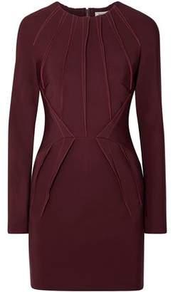 Thierry Mugler Pleated Ponte Mini Dress