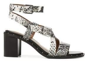 Franco Sarto Halina Leather Block Heel Sandals