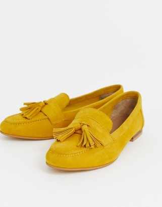 ASOS DESIGN Message suede tassel loafers